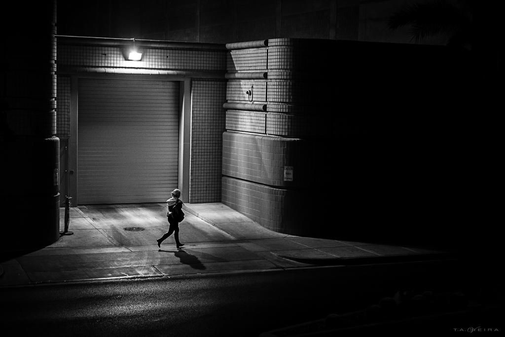 A Street Light at Night by Ted Vieira