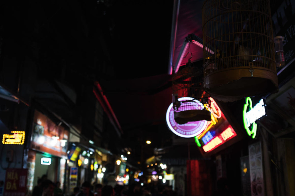 Street Photography Hanoi - Neon Signs