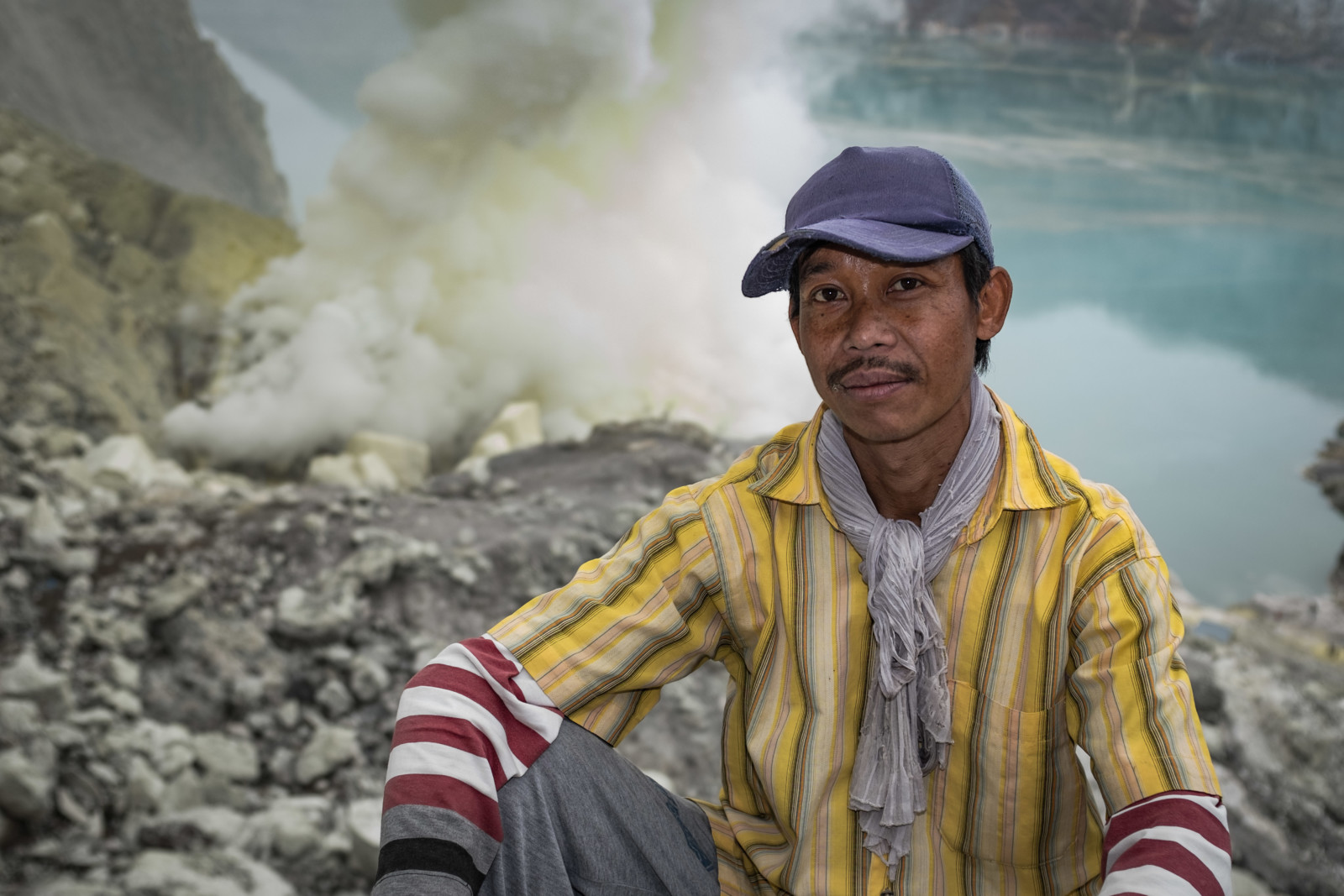 Documentary Photography - Portrait of a Sulfur Miner