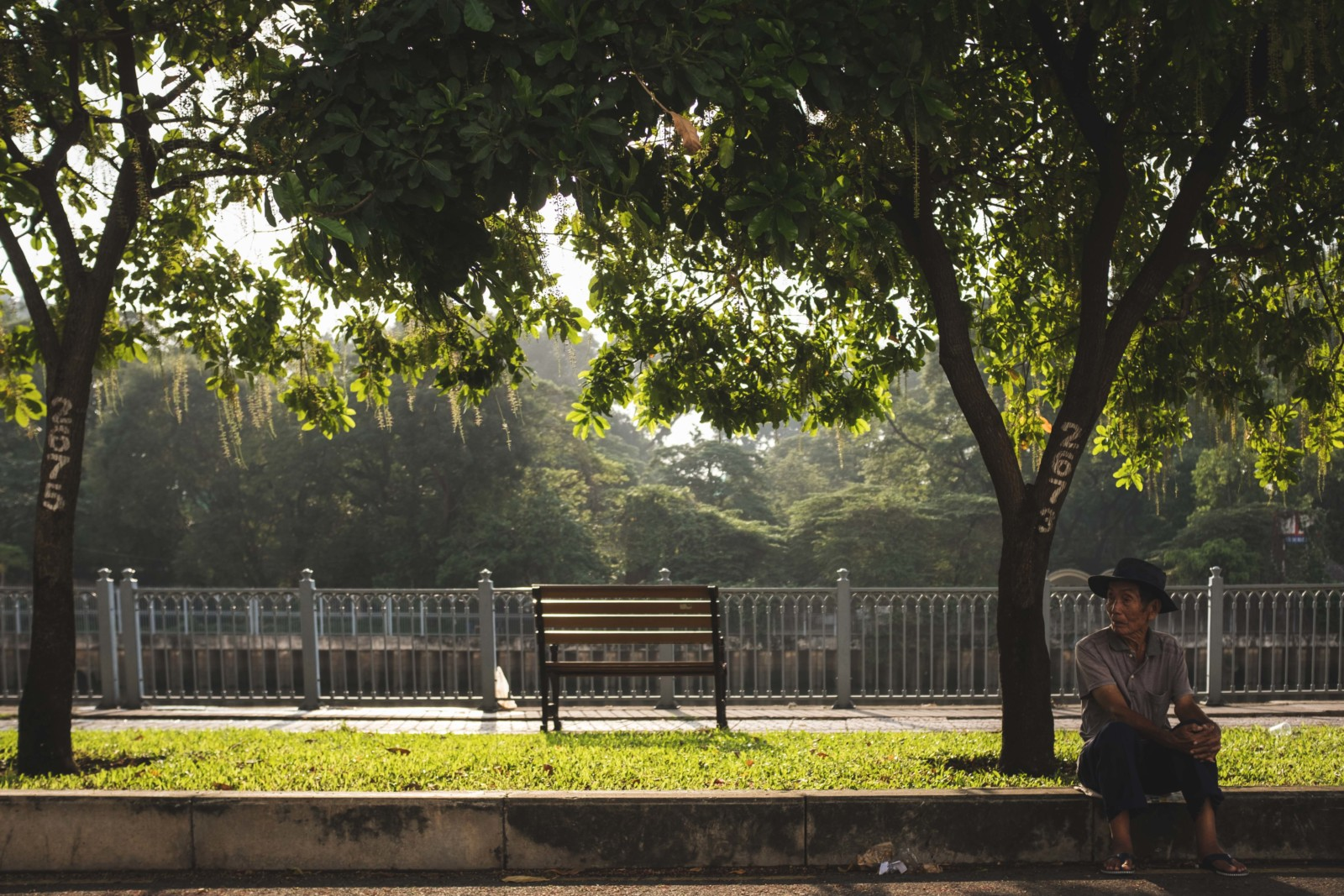 Empty Bench in Saigon