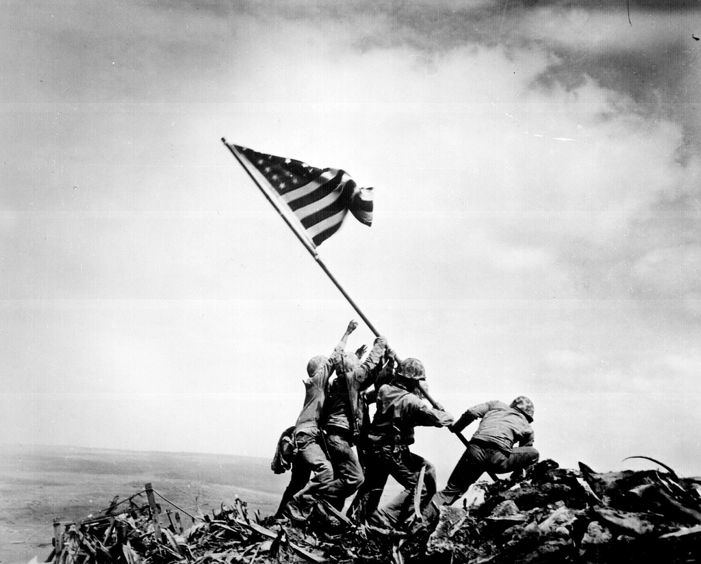 Raising Flag - Iwo Jima