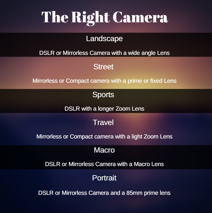 Photography Basic - The Right Camera