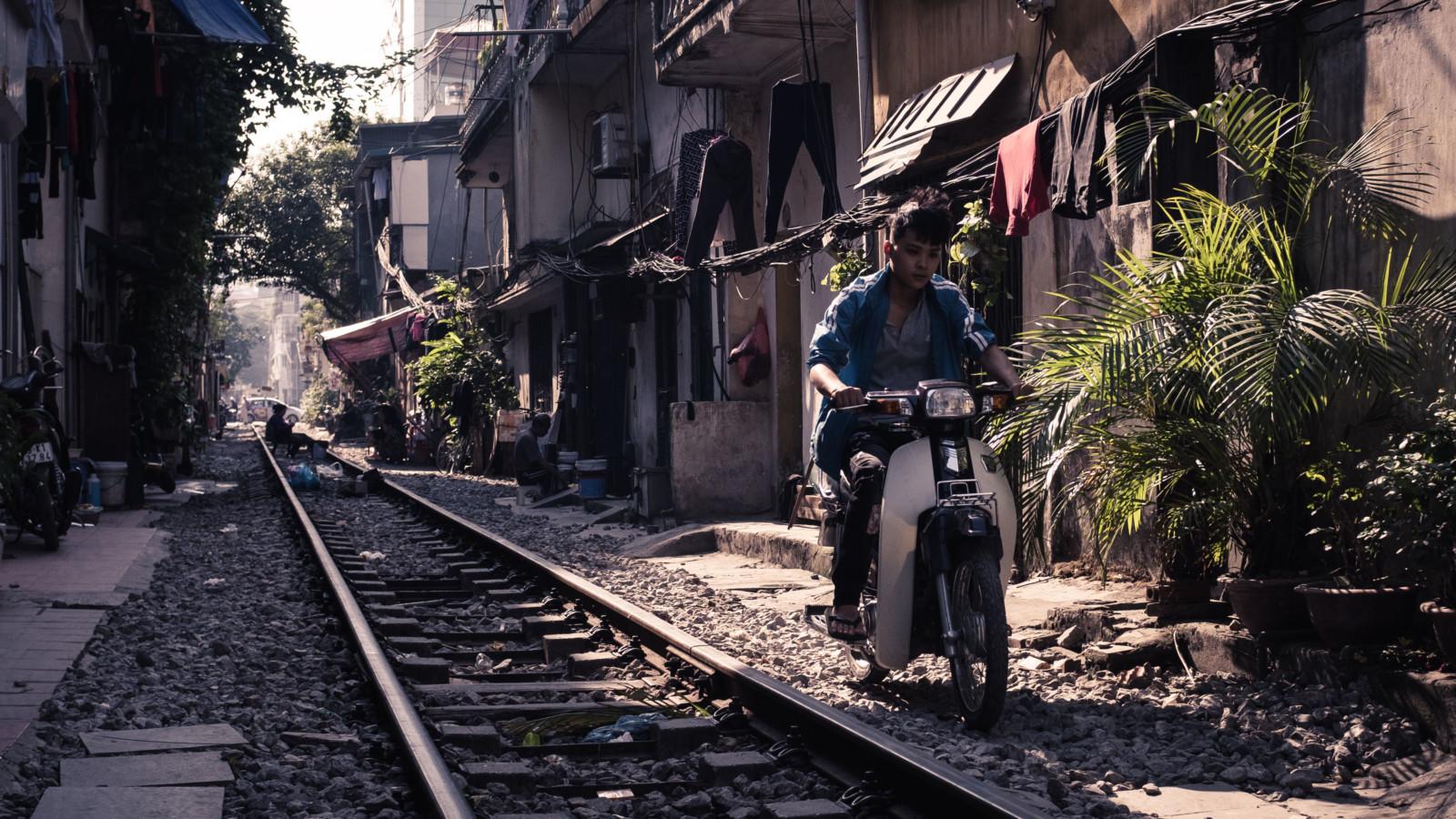 A railtrack in Hanoi