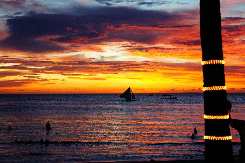 Beach, Boracay Beach, Sea, Sunset